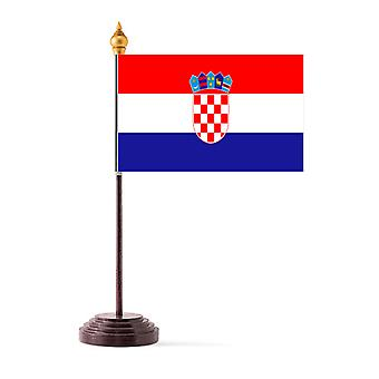 Kroatia Tabellflagg med pinne og Base