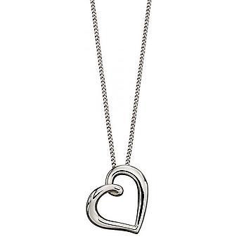 Elements Gold Organic Heart Pendant - White Gold