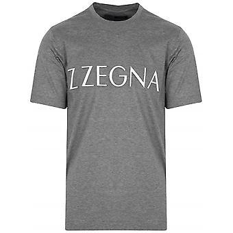 Z Zegna Grey Raised Logo T-Shirt