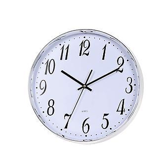 Uhr silber/weiß 31 cm
