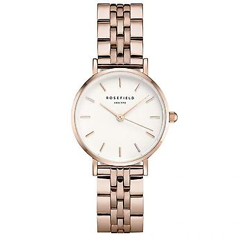 Rosefield Watch 26SRGD-271 - Bo tier m tal dor rose gold shiny white steel strap white gold gold pink Women