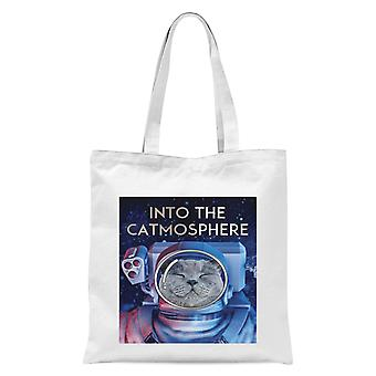 Into The Catmosphere Tote Bag - White