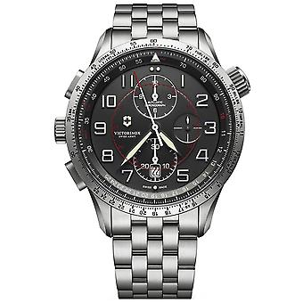 Victorinox airboss Swiss Automatic Analog Man Watch with Stainless Steel Bracelet V241722