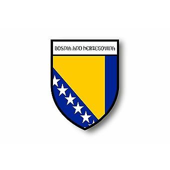 Aufkleber Motorrad Auto Blason Stadt bosnische Flagge