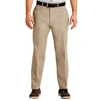 Pegasus Mens Pegasus Cotton Chino Discreet Side Elasticated Stretch Waistband Trouser Pants