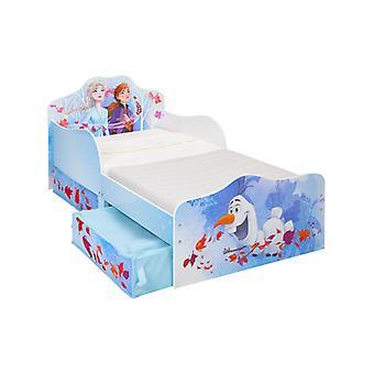 Disney congelato 2 bambino letto con schiuma materasso e stoccaggio