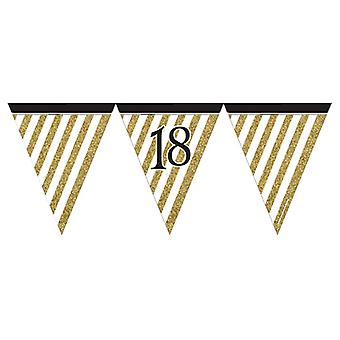 Creative Party 18 Black And Gold Paper Flag Bunting