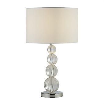 Lampada da tavolo Louis 1 LightLight, Chrome, White Shade 1668CC