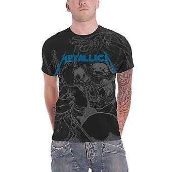 Metallica T shirt Japanse Justitie voor alle officiële mens zwarte allover print