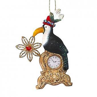 Gisela Graham Toucan sur la décoration de résine d'horloge