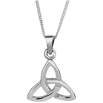 "Celtic Holy Trinity Knot Necklace Pendant Size Small - Includes 20"" Silver Chain"