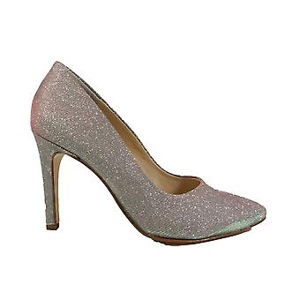 Paul Green 3591-15 Grey Sparkle Womens Slip On Stiletto Court Shoes