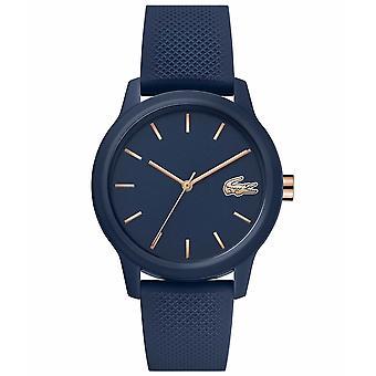 Lacoste 2001067 Women's 12.12 Dark Blue Silicone Wristwatch