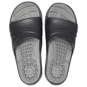 Crocs 205546 Reviva Slide Mens Sandals Black/slate Grey