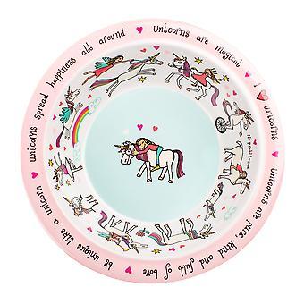 Tyrrell Katz Unicorn Design Melamine Bowl