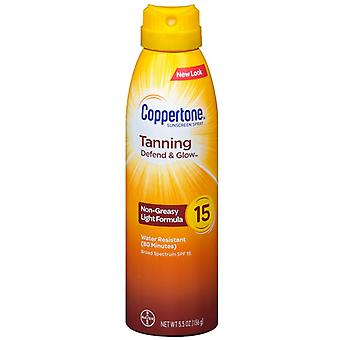 Coppertone tanning dry oil c sunscreen spray, spf 15, 5.5 oz