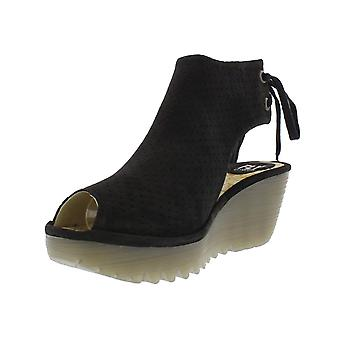 Fly London Ypul799 Peep Toe Lace Up Ankle Boot