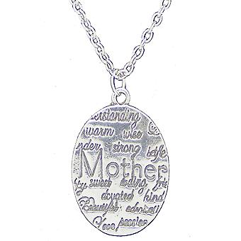 Inspirational mothers day engraved pendant necklace