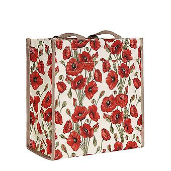 Poppy herbruikbare shopper bag door signare tapijten/Shop-pop