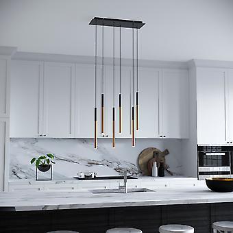 Altair 6 Mini hanger verlichting zwart-Brass