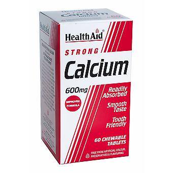 Health Aid Calcium 600mg - Chewable, 60 Tablets