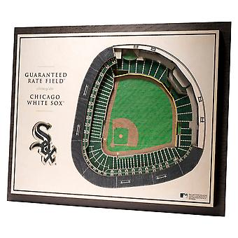 YouTheFan lemn decorare Wall stadion Chicago White Sox 43x33cm