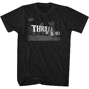 Amerikkalaiset klassikot Muhammad Ali Thrilla Manilassa T-paita-musta