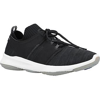 Hush Chiots Mens World BounceMax Lace Up Trainer Black Knit