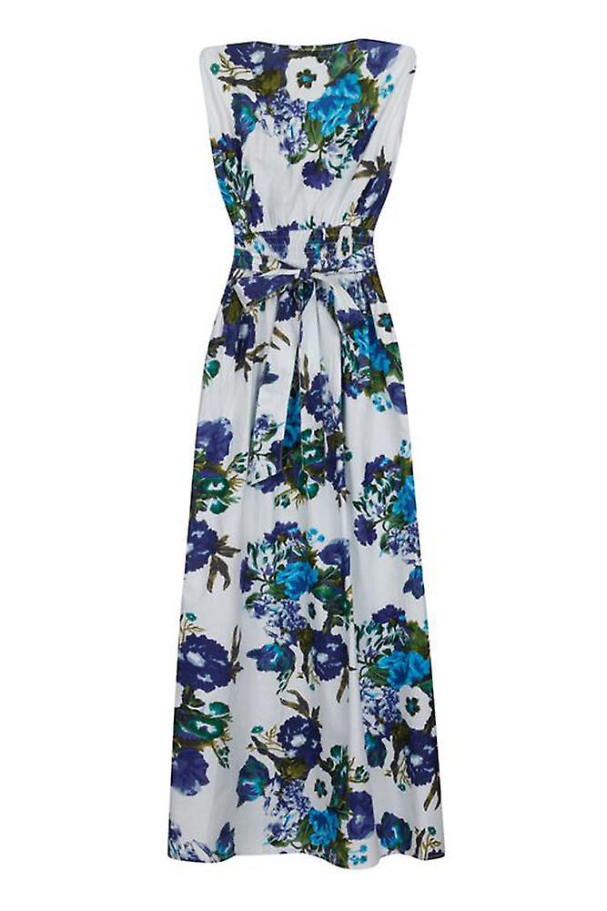 Pistachio Women's Garden Floral Print Cotton Maxi Dress vyg7rN