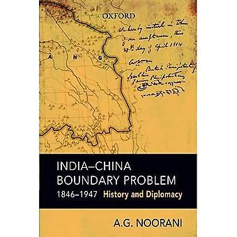 Problema de límite de India y China, 1846-1947