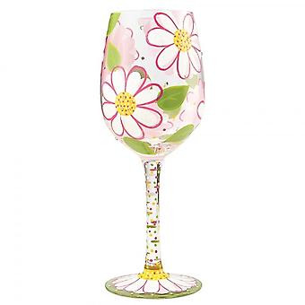 Lolita Oops I Daisied Again Wine Glass