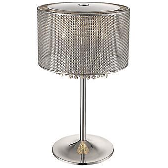 Lente verlichting - Brighton zilveren afwerking tafel Lamp DSZT030TJ4UBCM