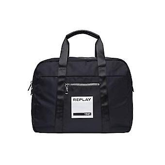 REPLAY Fu3063,000.a0021b - Unisex Adult Black (Black) 23x35x45cm (W x H L) shoulder bags