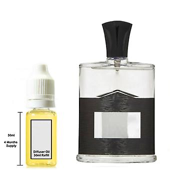 Aventus Creed For Him Inspired Fragrance 30ml Refill Essential Diffuser Oil Burner Scent Diffuser