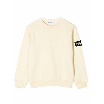 Stone Island Junior Stone Island Junior Yellow Melange Sweatshirt