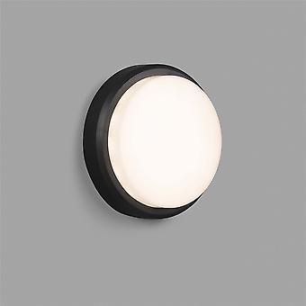 Faro Tom Xl - Utendørs LED Flush Vegglampe Mørk Grå 11W 3000K IP65 - FARO70682