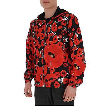 Les Hommes Lio126250p9005 Men's Black/red Nylon Outerwear Jacket