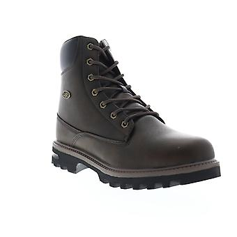 Lugz Empire HI WR  Mens Brown Leather High Top Casual Dress Boots