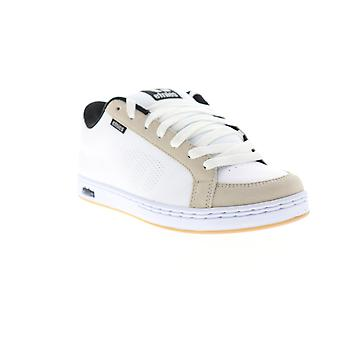 Etnies Kingpin Mens White Leather Low Top Lace Up Skate Sneakers Shoes