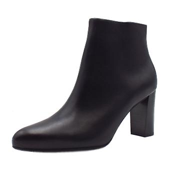 Peter Kaiser Lara Stylish Leather Ankle Boot In Black