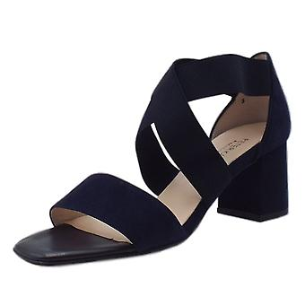 Peter Kaiser Paige Dressy Cross Over Straps In Notte Suede