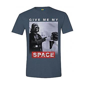 Star Wars - Give Me My Space Men T-Shirt - Blue Melange