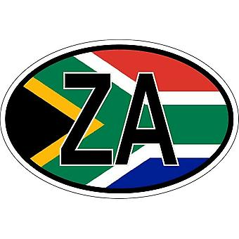 Sticker sticker oval oval flag code country ZA South Africa
