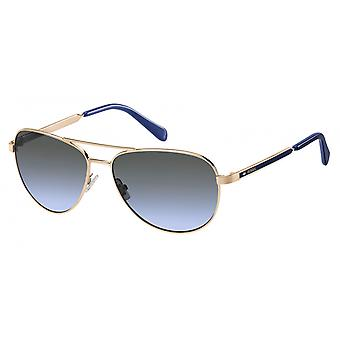 FOS 3065/S Sunglasses Women's Rose Gold/Blue/Grey Azure Blue