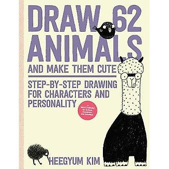 Teken 62 dieren en maak ze schattig - Stap-voor-stap tekening voor Characte