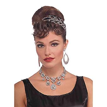 Forum Novelties BA1972 strass halsband-kvinna-silver-en storlek