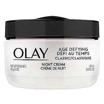 Olay age defying classic night cream face moisturizer, 2 oz