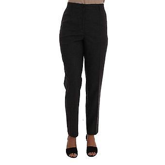 Dolce & Gabbana Gray Viscose Wool Woven Pants -- BYX1027632