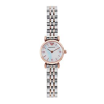 Armani Ar1764 Silver & Rose Gold Ladies Watch