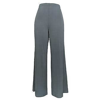 Bob Mackie Women's Pants Wide Leg Regular Length Knit Pants Gray A13015